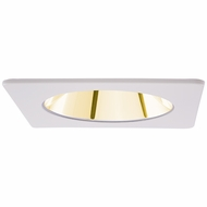 Elco EL2421G Modern White / Gold 4 Square Specular Reflector Recessed Lighting Trim