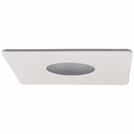 Elco EL2423W Modern White 4 Square Pinhole With Recessed Lighting Baffle