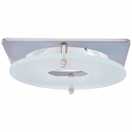 Elco EL2426N Contemporary Nickel / Chrome 4 Suspended Frosted Glass Recessed Lighting Trim
