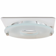Elco EL2426W Modern White / Chrome 4 Suspended Frosted Glass Recessed Lighting Trim