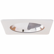Elco EL2445C Contemporary White / Chrome 4 Adjustable Recessed Lighting Wall Wash Reflector