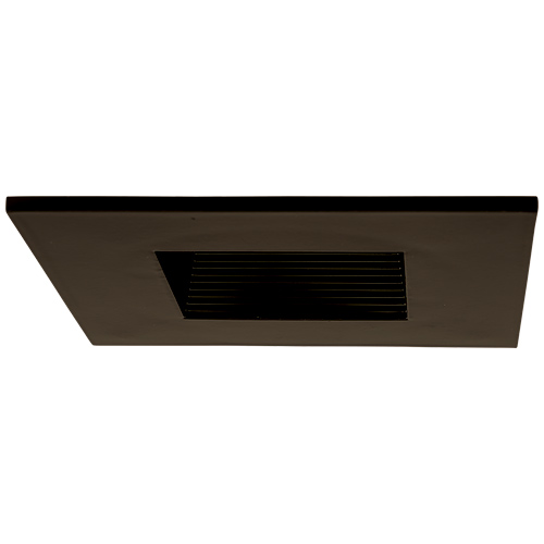 Elco El2484bz Modern Bronze 4 Cast Square Recessed Lighting Baffle Trim
