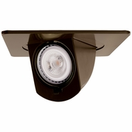 Elco EL2497BZ Modern Bronze 4 Square Recessed Lighting Trim With Pull Down