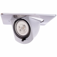 Elco EL2497N Contemporary Nickel 4 Square Recessed Lighting Trim With Pull Down