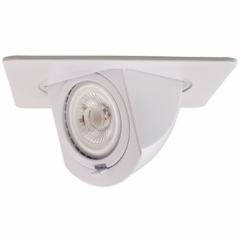 Elco EL2497W Modern White 4 Square Recessed Lighting Trim With Pull Down