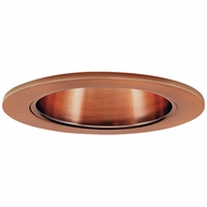 Elco EL2622CP Contemporary Copper Medium Base 3  Halogen Line Voltage Down Lighting Die Cast Adjustable Wall Wash Reflector Trim