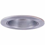 Elco EL2624N Modern Nickel Medium Base 3  Halogen Line Voltage Recessed Lighting Adjustable Wall Wash Baffle Trim