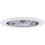 Elco EL2644C Contemporary Clear with White Medium Base 3 Halogen Line Voltage Recessed Light Reflector with Cross Blade Trim
