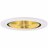 Elco EL2644G Modern Gold with White Medium Base 3  Halogen Line Voltage Down Lighting Reflector with Cross Blade Trim