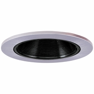 Elco EL2693BN Modern Black with Nickel Medium Base 3  Halogen Line Voltage Down Lighting Die Cast Adjustable Baffle Trim