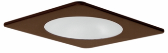 Elco EL29112BZ Modern Bronze Medium Base 4 Recessed Lighting Shower with Reflector and Frosted Lens Mini Trim
