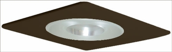 Elco EL29115BZ Modern Bronze Medium Base 4 Recessed Light Shower with Reflector and Frosted Pinhole Glass Mini Trim