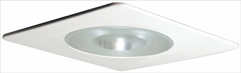 Elco EL29115W Contemporary White Medium Base 4 Recessed Lighting Shower with Reflector and Frosted Pinhole Glass Mini Trim