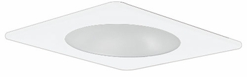 Elco EL2912W Contemporary White Medium Base 4 Recessed Light Shower with Frosted Lens Mini Trim