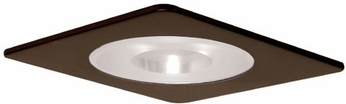Elco EL2915BZ Modern Bronze Medium Base 4 Down Lighting Shower with Reflector and Frosted Pinhole Glass Mini Trim