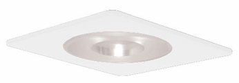 Elco EL2915W Contemporary White Medium Base 4 Recessed Lighting Shower with Reflector and Frosted Pinhole Glass Mini Trim