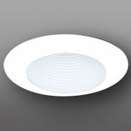 Elco EL304W Modern White Medium Base 6  Recessed Light Open Trim