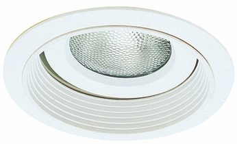 Elco EL376W Contemporary White Medium Base 6 Recessed Light Reflector with Regressed Gimbal Trim