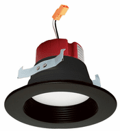 Elco EL410CT5BB Contemporary Black LED 4 Inch Five-Color Temperature Switch LED Baffle Inserts