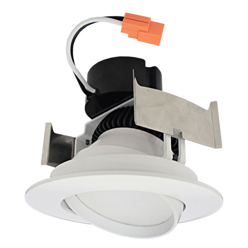 elco el41430w white 4 led insert adjustable gimbal recessed