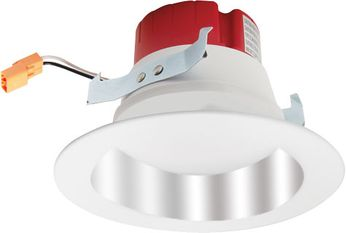"""Elco EL417XXC 4"""" LED Contemporary Chrome w/White Ring LED 4 Round High Lumen Reflector Recessed Lighting Insert"""