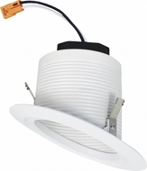 Elco EL42330W 4� LED Sloped Ceiling Housings and Trims Modern All White LED 4  Sloped Baffle Recessed Lighting Insert