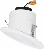 Elco EL42530W 4� LED Sloped Ceiling Housings and Trims Contemporary All White LED 4  Sloped Reflector Recessed Lighting Insert