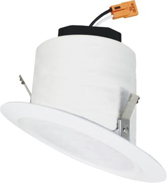 """Elco EL42530W 4"""" LED Sloped Ceiling Housings and Trims Contemporary All White LED 4 Sloped Reflector Recessed Lighting Insert"""
