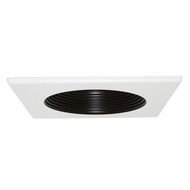 Elco EL4351B Black 4  Square Baffle Recessed Lighting Trim