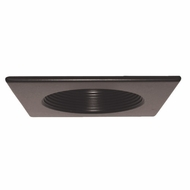 Elco EL4351BZ Bronze 4  Square Baffle Recessed Lighting Trim