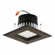 Elco EL44130BZ Bronze 4  Square LED Insert Square Baffle Recessed Lighting Trim