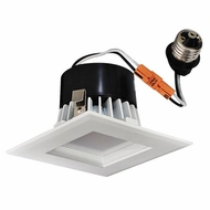 Elco EL441XXW White 4  Square LED Insert Square Baffle Recessed Lighting Trim