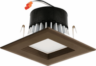 Elco EL442CT3BZ Contemporary Bronze LED 4 Square LED Reflector Insert