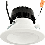 Elco EL475CT5DW Modern White LED 4 Inch 0-10V LED Insert with 5-CCT and 3-Lumen Switch