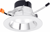 Elco EL495XXDCW Contemporary Chrome with White Ring LED 4 Inch 0-10V LED Insert