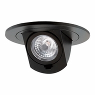 Elco EL497XXB Contemporary Black 4  LED Round Adjustable Pull-Down Insert