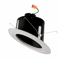 Elco EL51127B/EL51130B Black Medium White LED 5u0026nbsp; Sloped Recessed Light Baffle Insert  sc 1 st  Affordable L&s & Elco 5