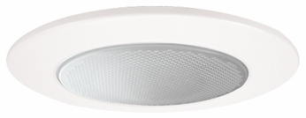 Elco EL5112W Modern White Medium Base 5 Recessed Lighting Shower with Abalite Lens and Reflector Trim