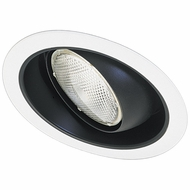 Elco EL519BB-OM5W Modern Black Medium Base 5  Sloped Down Lighting Regressed Eyeball with Reflector Trim