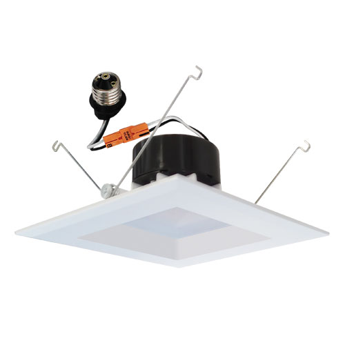 Elco El55230w White 5 Nbsp Led Insert Square Reflector Recessed Lighting Trim Loading Zoom