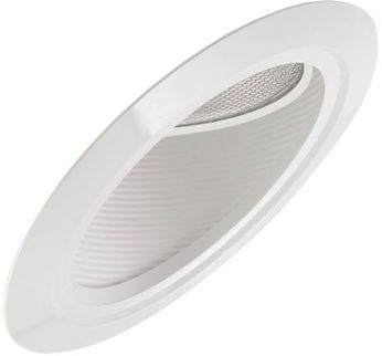 """Elco EL607 6"""" Incandescent Super Sloped Ceiling Housings and Trims Contemporary 6 Super Sloped Baffle Gimbal Recessed Lighting Trim"""