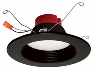 Elco EL610CT5BB Modern Black LED 5/6 Five-Color Temperature Switch LED Baffle Inserts
