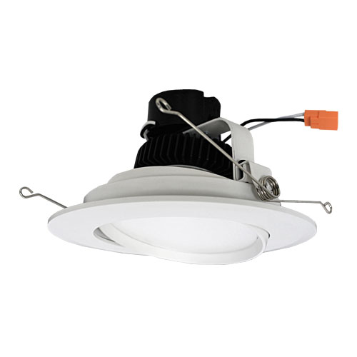 Elco El613w White 6 Adjule Led Gimbal Insert Recessed Lighting Trim