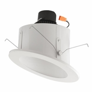 Elco EL713W White 6  Sloped Ceiling LED Baffle Inserts Recessed Lighting Fixture