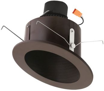 """Elco EL713XXBZ 6"""" LED Sloped Ceiling Housings and Trims Contemporary Bronze LED 6 Sloped Ceiling LED Baffle Recessed Lighting Insert"""