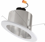 Elco EL715XXC Modern Clear w/White Ring LED 6 Sloped Ceiling LED Reflector Recessed Lighting Insert