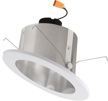 "Elco EL715XXC 6"" LED Sloped Ceiling Housings and Trims Modern Clear w/White Ring LED 6  Sloped Ceiling LED Reflector Recessed Lighting Insert"