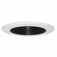 Elco EL7331B Black Reflector White Ring 6  Interchangeable Recessed Light Baffle Trim