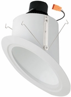 Elco EL761XXW 6� LED Super Sloped Ceiling Housings and Trims Contemporary White LED 6 Super Sloped Ceiling LED Reflector Recessed Lighting Insert