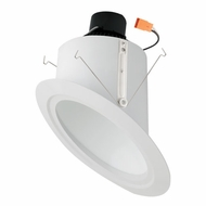 Elco EL764XXW White 6  Super Sloped Ceiling LED Baffle Inserts Recessed Light Fixture